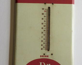 Vintage Dr. Pepper Advertising Thermometer-Great Shape!
