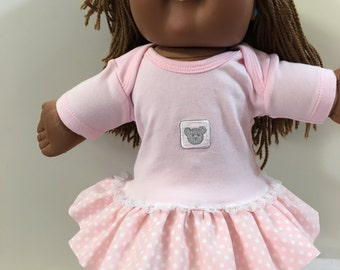 """Cabbage Patch 16 inch KIDS Doll, """"Adorable Teddy Bear"""" Ruffle & Lace Trim Dress, 16"""" CPK Kids Doll Clothes, CPK Dolls, Love My Teddy Bear!"""
