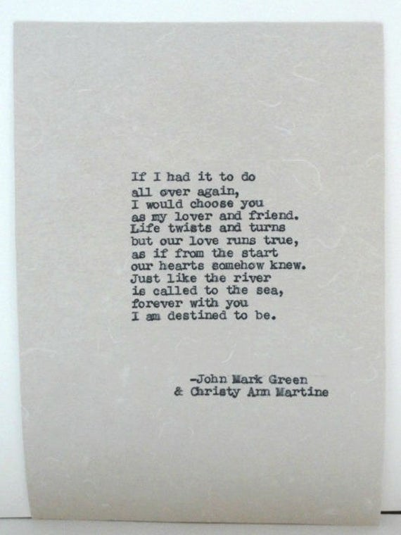 Gifts for Him or Her - Love Poem  by John Mark Green and Christy Ann Martine