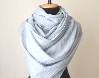 gray scarf mom gift fashion scarf birthday gift|for|women cotton scarf summer scarf lightweight scarf long scarf pashmina scarf soft scarf