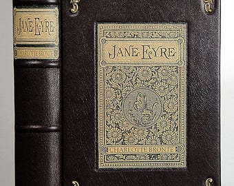 c.1954 ~ JANE EYRE ~ by Charlotte Brontë, Restored & Rebound in Leather