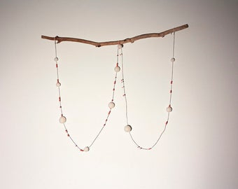 Coral and cream Garland