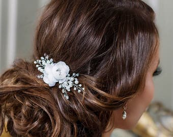 Bridal hair clip Bridal hair flower Wedding hair Flower hair clip Bridal Flower headpiece Flower hair piece Floral Hair Comb Bridal clip