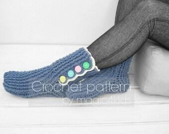 Crochet pattern: women socks,loafers,slippers,all women sizes,crochet boots,socks,adult slippers,easy crochet pattern,sleeping socks