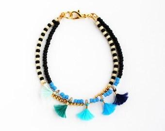 Beaded Bracelet Beaded Friendship Bracelet Beaded Multi Strand Bracelet Beaded Tassel Bracelet Best Friend Gift Delicate Bracelet