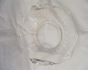 Clear Cambridge Glass Candy/Nut Dish with upturned Handles