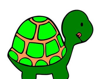 Turtle SVG Cutting Digital File Only