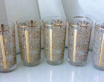 Mid-Century Barware | Drinking Glasses | Tumblers | Bar Cart Bling