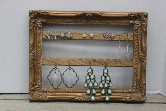Wall Mount Jewelry Organizer Hanging Earring Organizer