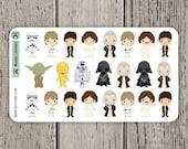 23 Star Wars Stickers / Planner Stickers / Journal Stickers