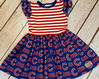 Chicago Cubs girls dress 2T-6Y