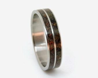 Titanium Dinosaur  Ring,Dinosaur Bone Ring, Engagement Dinosaur Ring , Wedding Dinosaur Ring,
