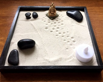 Zen Buddha Garden kit for home decor and office...stress relief, yoga, meditation, wellness...