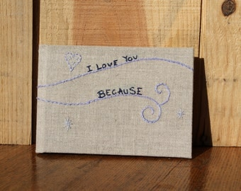 Love You Blank Book, Love You Journal, Anniversary Journal, Wedding Blank Book, Husband Blank Book, Fiance Blank Book, Wife Blank Book,