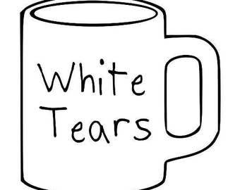 Kids T-Shirt White Tears Mug Screen Print in Kids S-L