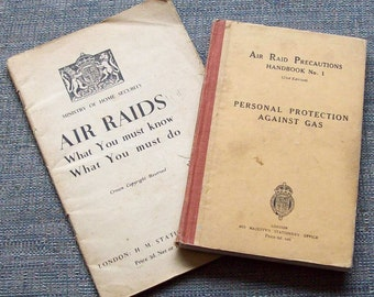 Two WWII Air Raid Precaution booklets. HMSO 1938/1940