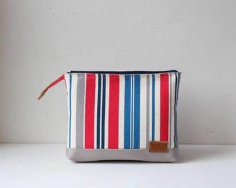 W-pockets pouch(Red Stripe)