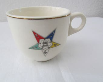 17-0502 Vintage 1960's Masonic Cup / Eastern Star Cup / Freemasons Demitasse Cup / Masons Cup / Made in USA / teacup / American Vintage