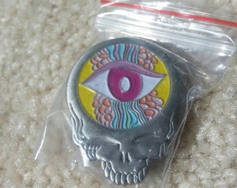 Steal your face eyeball hat pin
