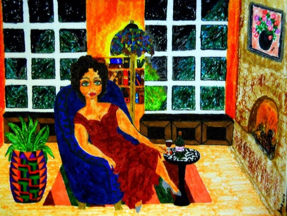 "Archival PRINT of Original Painting, ""Mellowed In Time"", by Hoosier Artist Stacey Torres"