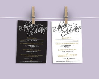 A5 Modern Personalised Invitation for any occasion