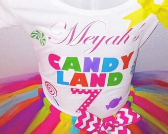 Candy Land Tutu Set Colorful Lollipop