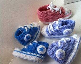 converse style baby's and todler's booties