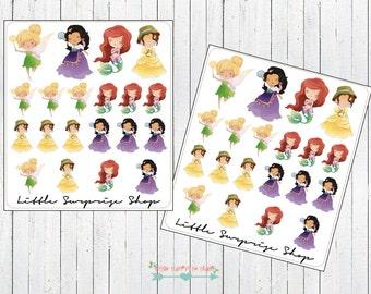 Kawaii Princess #5 Stickers // KC018