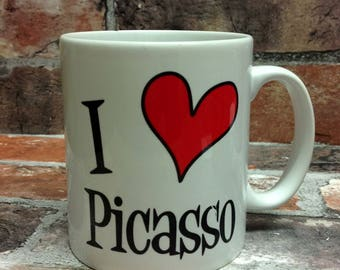 New I love Picasso mug gift 11oz cup present