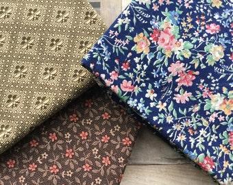 Lovely Trio of Fat Quarters - Concord Fabrics - Marcus Fabrics