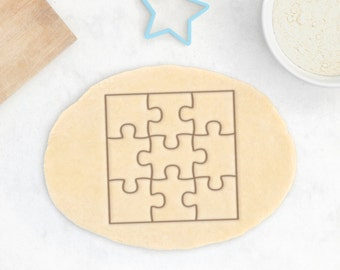 Puzzle Cookie Cutter - Puzzle Piece Cookie Cutter Jigsaw Shape Square Cookie Cutter - 3D Printed