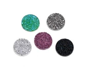 20 18mm 5 colors quartz cabochons