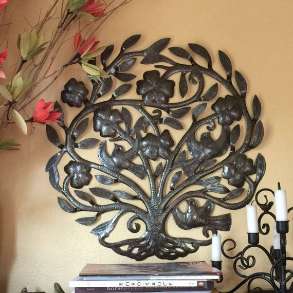 """Tree of Life, Growth from the Ground Haiti Metal Art 23"""" X 23"""""""