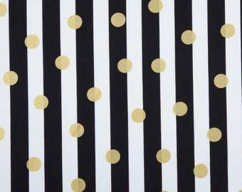 Black & White w/Gold Dots| Fitted Crib Sheet| Changing Table Sheet | Alma Mini Sheet | Alma Papa| Mini Crib Sheet| Crib Bedding