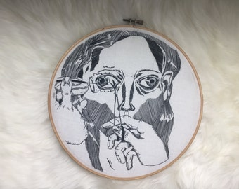 Medical illustration embroidery