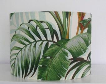Handmade Retro Botanical Palm Banana Leaves Tropical 25cm 30cm 40cm Lightshade Lampshade