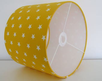 NEW Handmade Sun Yellow and White Star Lampshade Lightshade Baby Nursery