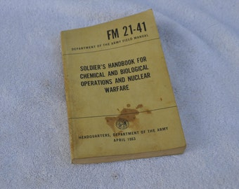 Dept.Army Soldier,s Handbook For Chemical And Biological Warfare