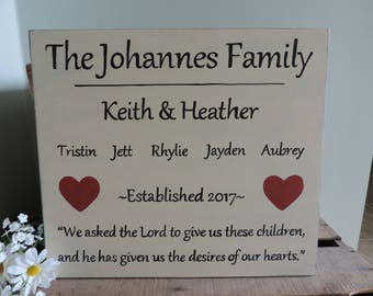 Adoption Gift, Family Sign, Personalized, Custom Made Wooden Sign, Baby Adoption Gift