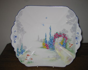 Shelley Archway of Roses Cake plate c1928