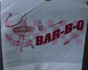 Plastic BBQ Bibs, Pack of 25, barbeque events, I Do BBQ's, weddings, backyard events, adult disposable Bib