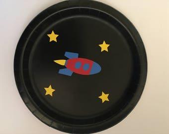 Rocket Party Plates