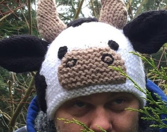 Calf Cow Knitted Hat