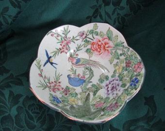 Nora Fenton Birds and Flowers Asian Fruit Bowl
