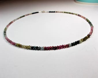 Tourmaline ball necklace