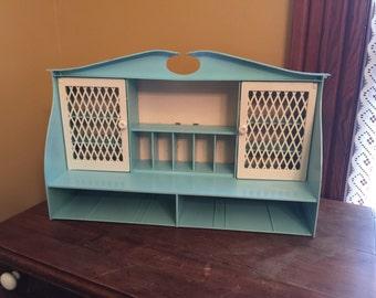 Vintage Remco Toy Dish Cupboard/Vintage Play Dish Storage/Vintage Knick Knack Shelf