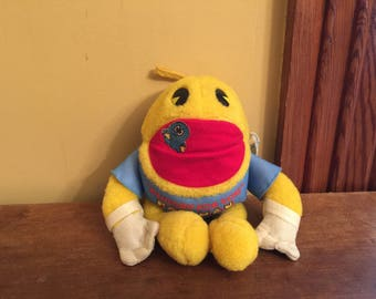 Vintage Plush Pac-Man/Knickerbocker Pacman/Hungry For You Pac-Man