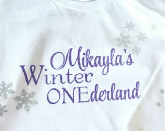 Winter Onederland Onesie , Personalized