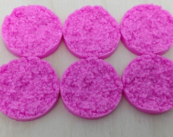 light Pinkish purple 25mm nugget faux druzy Cabochons 6pcs