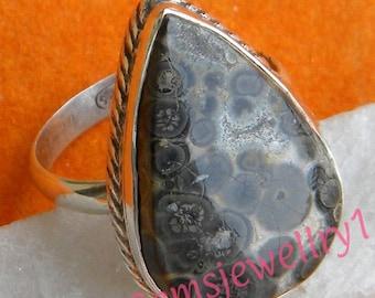 Leopard Jasper ring, 925 sterling silver Ring, Leopard Jasper ,Stone Ring,Statement Ring, Ring Size 5 6 7 8 9 10 11 12 13 14 -0115100237